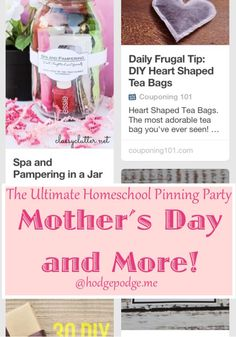 Mother's Day and More at The Ultimate Homeschool Pinning Party
