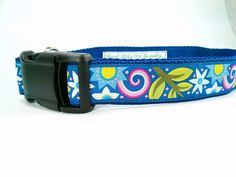 Gorgeous Blue Floral Handmade Adjustable Dog by GoodLifePetSupply #HEPTEAM #etsy
