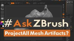"""#AskZBrush: """"I get artifacts using ProjectAll is there a way to fix this?"""""""