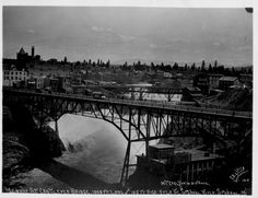 Monroe Cantilever Bridge Spokane Tribe, Cantilever Bridge, Spokane Washington, River, History, Sweet, Candy, Historia, Rivers