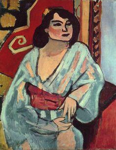 Henri Matisse, 1909, Algerian Woman (L'Algérienne), oil on canvas, 81 x 65 cm, Musée National d'Art Moderne, Centre Georges Pompidou, Paris