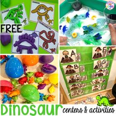 Dinosaur Themed Activities & Centers for Little Learners - Pocket of Preschool