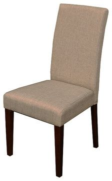 Seville Linen Dining Chairs (Set of 2) - contemporary - Dining Chairs - Overstock.com