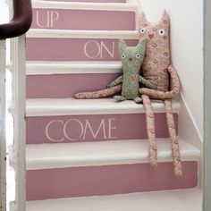 stairway painting ideas   Paint the stairs   Decorate with paint - 10 country-style ideas ...