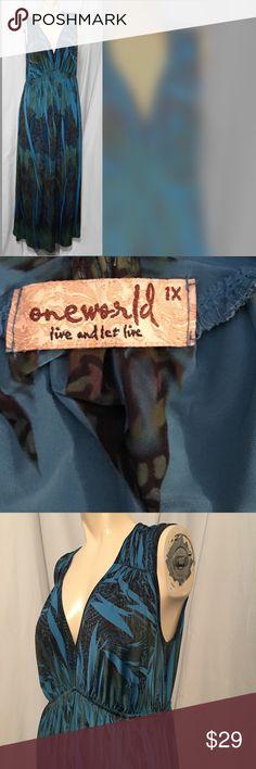One world plus size maxi dress EUC plus size maxi dress ONE WORLD Dresses Maxi