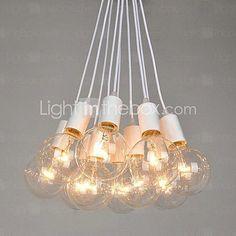 Pohjois-Amerikan Country Edison Lamput taide kattokruunu - USD $119.99