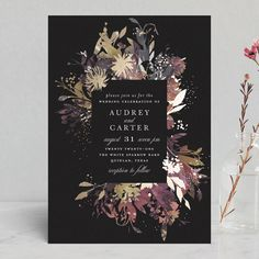 Fantasy Foil-Pressed Wedding Invitations by Lori Wemple   Minted