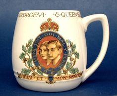 Coronation Mug King George VI and Elizabeth Booths 1937