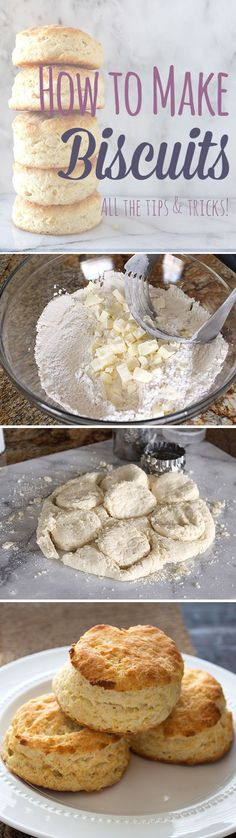 Step-by-step guide with all the tips & tricks for making PERFECT flaky biscuits!