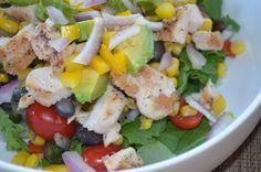 Southwestern Kale Salad with Cilantro Lime Dressing by Rosann @ 2BellaHealth