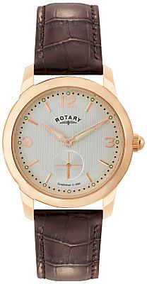 Rotary GS02702/01 Men's Cambridge Leather Strap Watch, Brown
