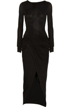 35d3313242c Donna karan new york Draped Jersey Dress in Black
