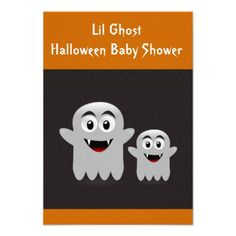 Lil Ghost Baby Shower Invitation Cards