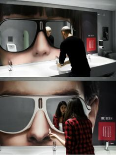 """Be seen"" great ambient advertisement by Republique Beirut"