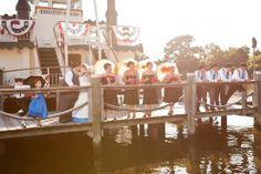 vintage river boat wedding maryland eastern shore Danny Bostwick Photography 19 550x366 Vintage Riverboat Wedding Ceremony on the Eastern Shore: Amy + Stephen