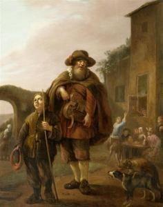 Le joueur de vielle à roue, Pieter Nijs or Nys (1624-1681)