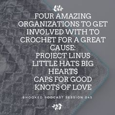Share if you know someone who wants to get involved and crochet for charity! In this episode of the Bhooked Podcast, I'll give you tips on how to find local resources to get involved in as well as talk about four amazing organizations. Listen for free on iTunes, Stitcher, Google Play, TuneIn or right here from my website: BHP045: Crochet for Charity - How You Can Get Involved…