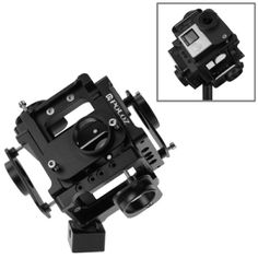 PULUZ Full Cube 6 in 1 Housing Shell CNC Metal Protective Cage with Screw for GoPro HERO4 /3 (Black)