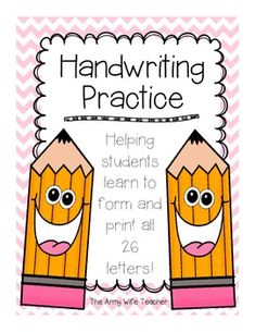 Handwriting Practice. Repinned by SOS Inc. Resources. Follow all our boards at pinterest.com/sostherapy for therapy resources.
