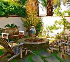 Relaxing Backyard Fire Pit and Seating Area from hometalk.com