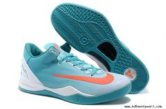 Kobe 8 System MC Mambacurial FB Calypso Blue White Siren Red Mens Shoes