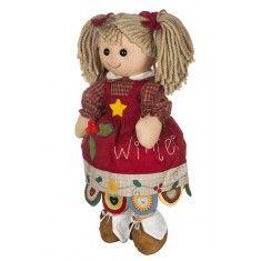 Bambola di pezza My Doll Bambola Winter 42cm Curata nei minimi dettagli, è realizzata a mano in Italia.