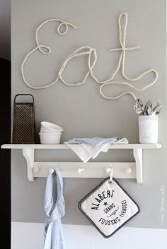 How to Make Rope Letters for fun DIY home decor! So cute and you can make whatever words you want! Tutorial at LoveGrowsWild.com #rope #diy #decor