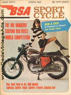1968 BSA Sport Cycle Magazine – Road Tests on ALL 1968 BSA Models