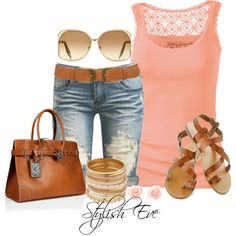 A cute and super fun summer outfit. It is very stylish and u can jazz it up with ur hair in a top knot or a loose side braid.