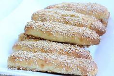 Rezepte mit Herz   ♥: schnelle Sesam Brotstangen