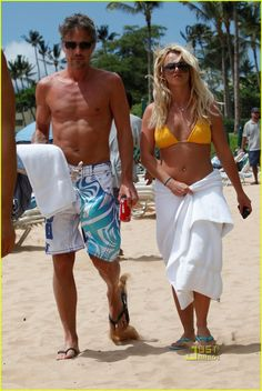 Britney and Jason in Hawaii.