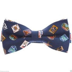 FLATSEVEN Mens Stamp Pattern Printed Pre-Tied Bow Tie (YB009) #FLATSEVEN #BowTie