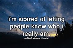 And that's who I am..