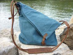 Canvas Schultertasche (Blau) von NORDLICHT  Taschen und Rucksäcke aus Segeltuch & Leder  auf DaWanda.com