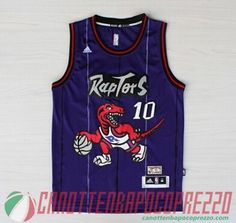 canotte nba poco prezzo Toronto Raptors porpora # 10 Derozan
