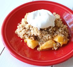 Peach Crisp - looks like the perfect fall dessert!
