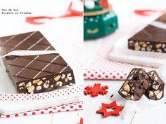 turrón de chocolate crujiente. Receta de Navidad