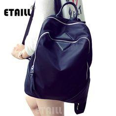 Vintage Waterproof Casual Travel Luxury Bagpack Men Rucksack School Bag Black Nylon Backpacks for Teenage Girls Sac a Dos Femme