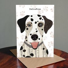 Dalmatian Greetings Card by SimonHartArtist on Etsy