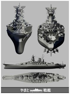 IJN Yamato_full view by Siregar3D on DeviantArt