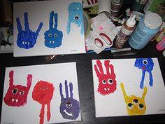 hand print monsters!