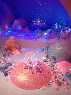 From Brisbane GOMA. It's like a fairy wonderland thing and its made entirely of sugar Aesthetic Space, Pink Aesthetic, Baguio, Fantasy Landscape, Retro Futurism, Candyland, Pastel Pink, Wall Collage, Aesthetic Pictures