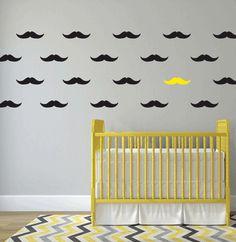 Moustache Pattern Wall art South Africa Stickart