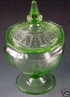 eBay Canada Guides - Green Depression Glass - Colored Glassware of the 1930s