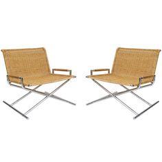 Ward Bennett Pair of Chairs