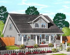 Cozy Country Cottage With Garage Option - 52223WM | Architectural Designs - House Plans