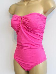 Ex M /& S Swimwear Bikini Bottoms Pink Floral Print Short Style Sizes 8 22