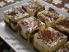 Egy nagyon finom, könnyed, egyáltalán nem túl édes, talán épp ezért annyira finomságos süteményt sütöttem Andi konyhájából . Számomra újdon... Hungarian Recipes, Hungarian Food, Tiramisu, Goodies, Dessert Recipes, Cooking Recipes, Cupcakes, Baking, Ethnic Recipes