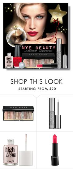 """NYE Beauty"" by sarah-crotty ❤ liked on Polyvore featuring beauty, Bobbi Brown Cosmetics, Urban Decay, Benefit, OPI, Beauty, NewYearsEve, beautyset and nyebeauty"
