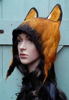 Festival Hat German Shepherd Dog Eared Hat costume by KarenRao